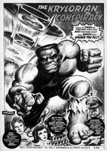 Rampaging Hulk art by Walt Simonson and Alcala