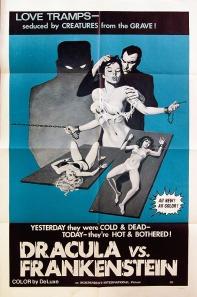 Gray Morrow Dracula vs Frankenstein 1-sheet